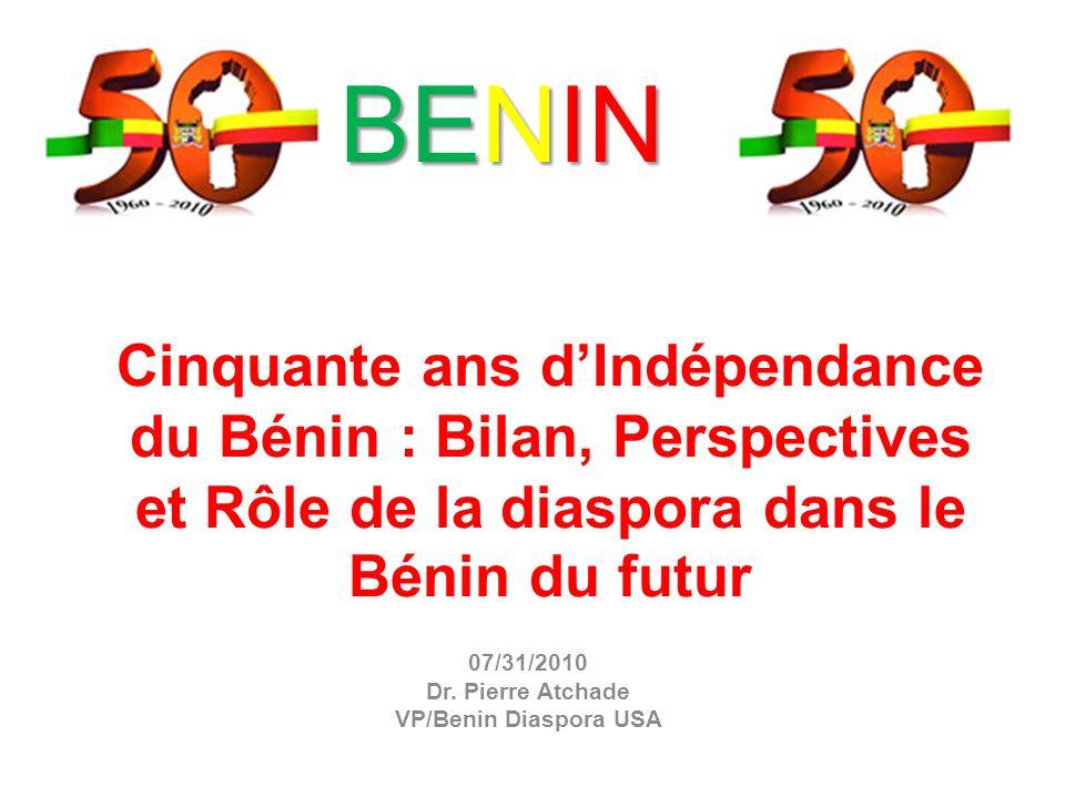 07/31/2010 Dr. Pierre Atchade VP/Benin Diaspora USA