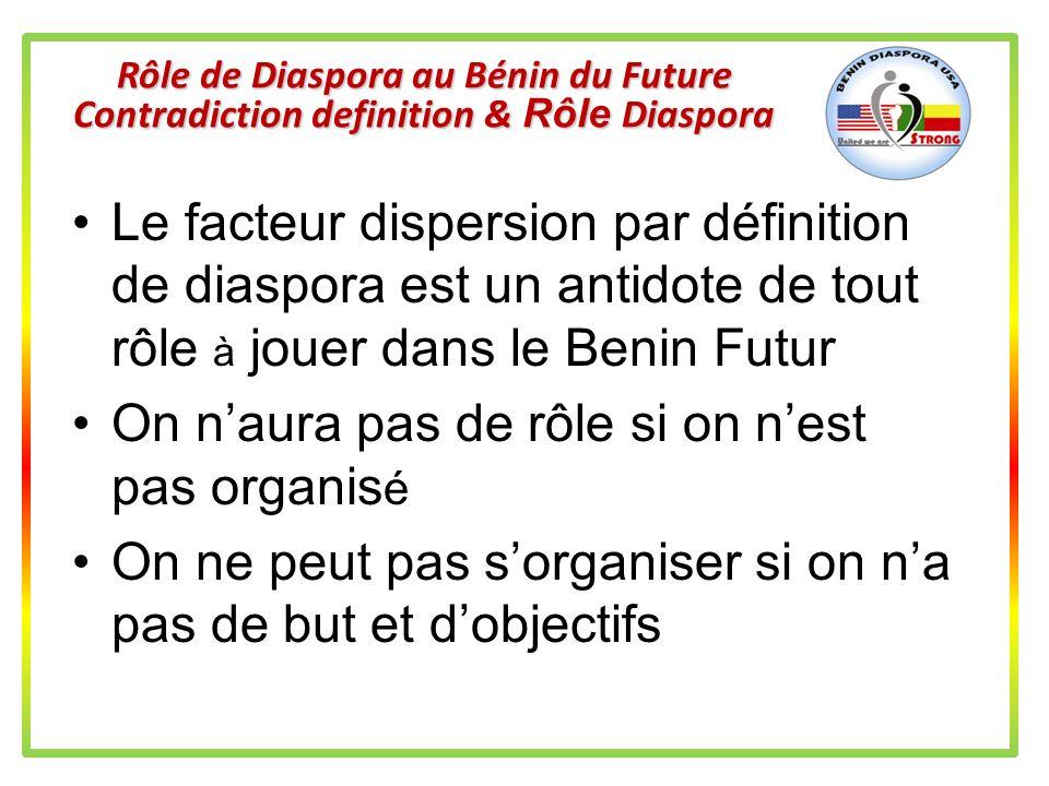 Rôle de Diaspora au Bénin du Future