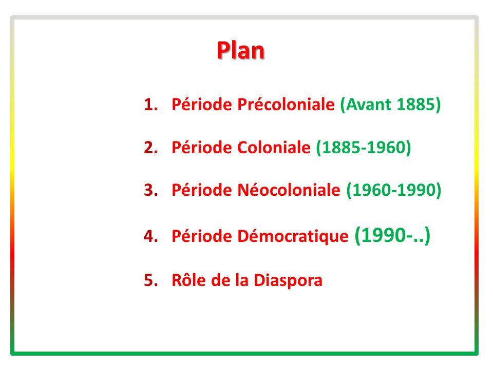 Plan Période Précoloniale (Avant 1885) Période Coloniale (1885-1960)