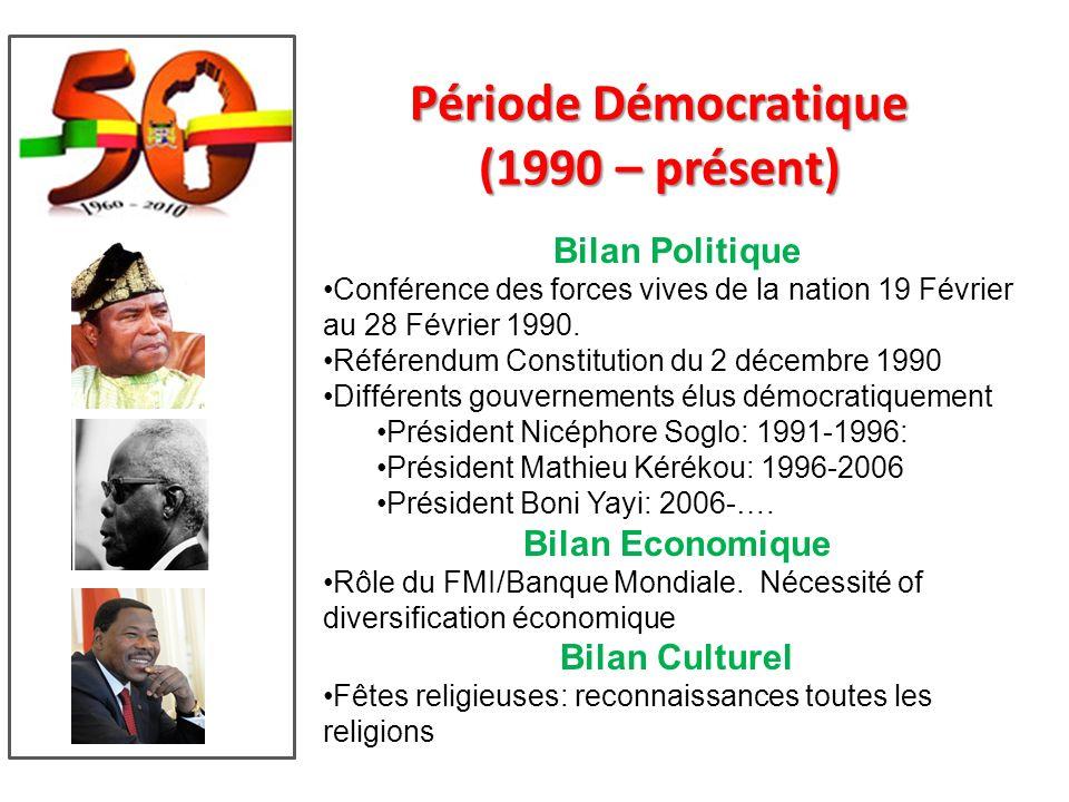Période Démocratique (1990 – présent)