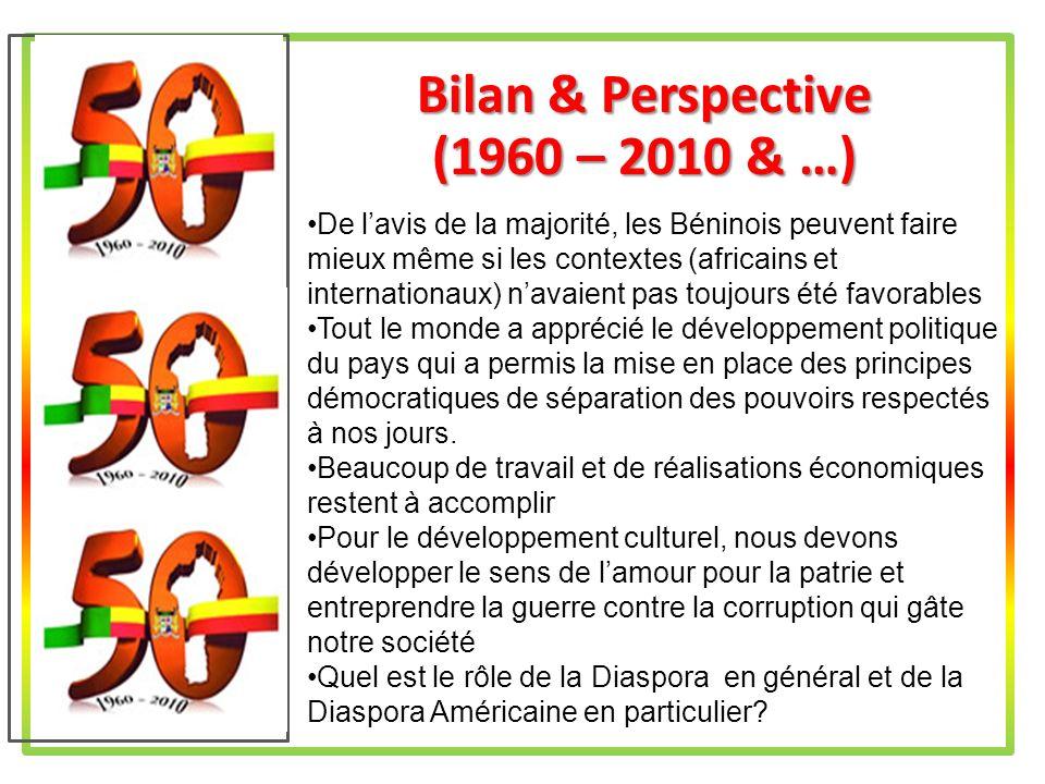 Bilan & Perspective (1960 – 2010 & …)