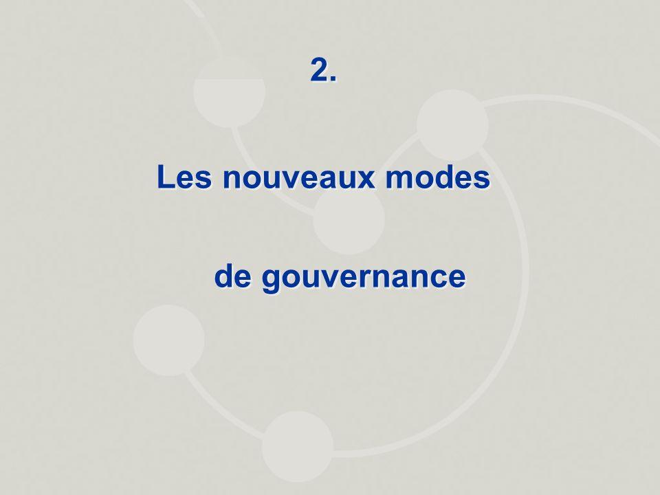 Les nouveaux modes de gouvernance