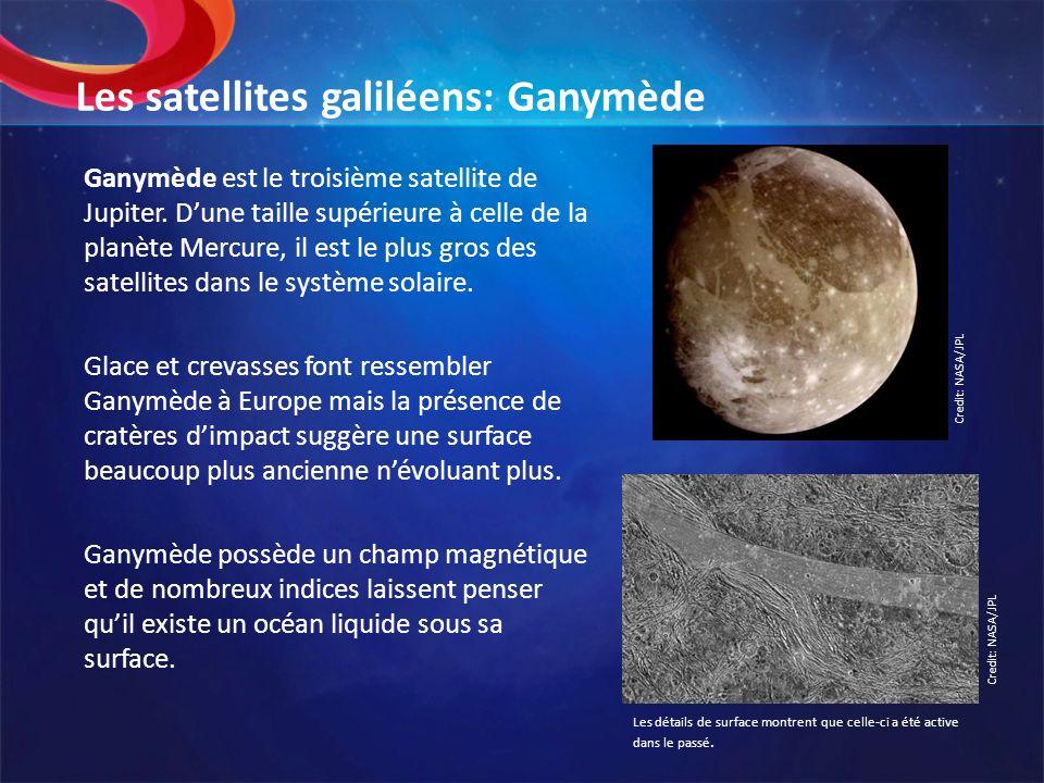 Les satellites galiléens: Ganymède