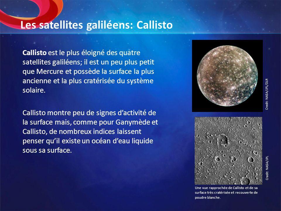 Les satellites galiléens: Callisto