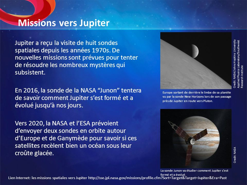 Missions vers Jupiter