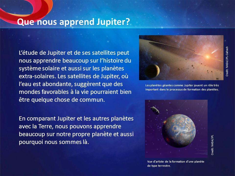 Que nous apprend Jupiter