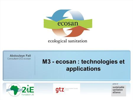 M3 - ecosan : technologies et applications