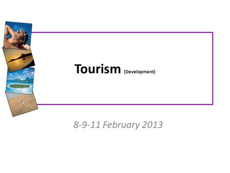 Tourism (Development)