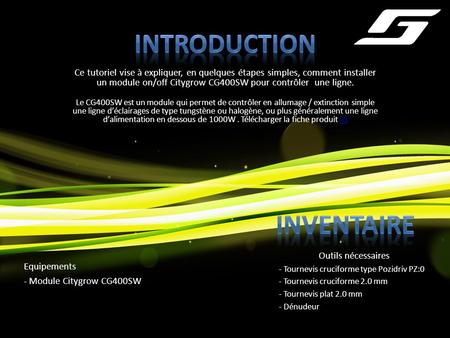 Introduction Inventaire