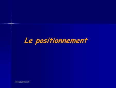 Le positionnement www.coursmix.com.