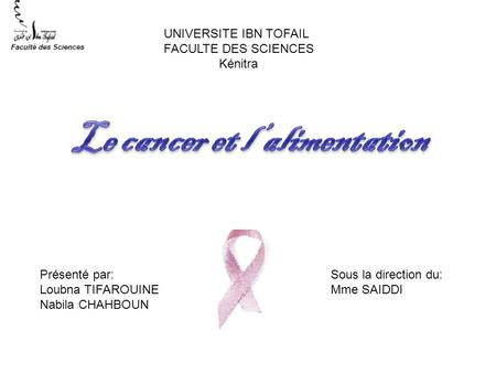 Le cancer et l'alimentation