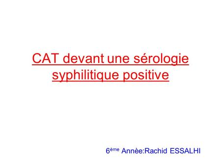 Plan I) Introduction II) Histoire naturelle III) Diagnostic clinique