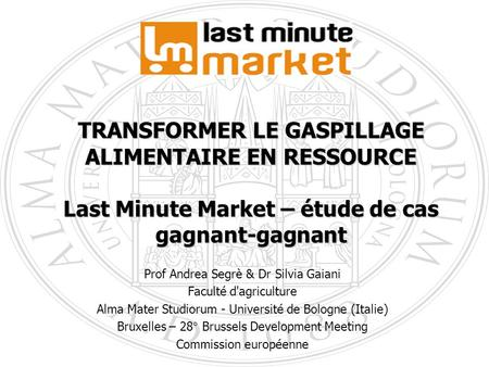 TRANSFORMER LE GASPILLAGE ALIMENTAIRE EN RESSOURCE