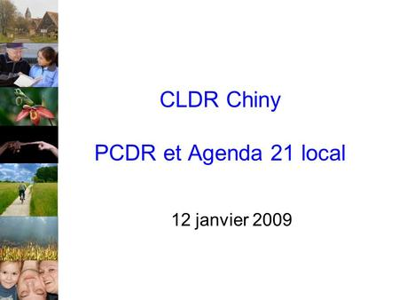 CLDR Chiny PCDR et Agenda 21 local 12 janvier 2009.