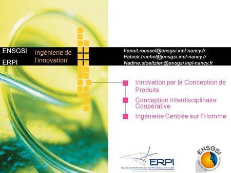 Innovation par la Conception de Produits