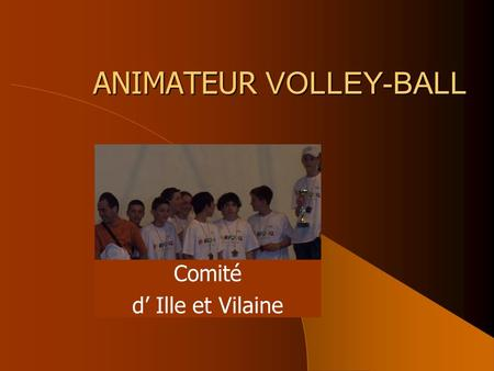 ANIMATEUR VOLLEY-BALL