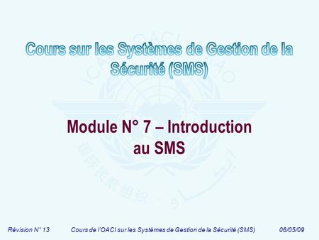 Module N° 7 – Introduction au SMS
