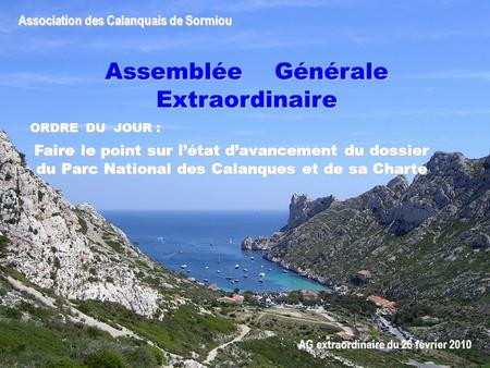 Association des Calanquais de Sormiou