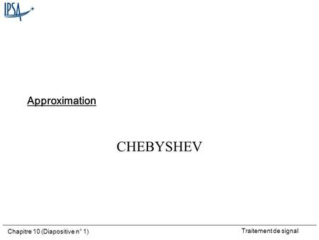 Approximation CHEBYSHEV.