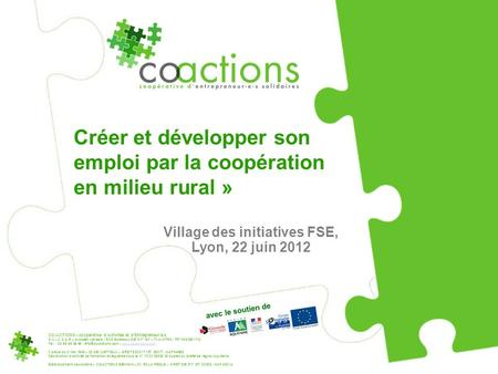 Village des initiatives FSE, Lyon, 22 juin 2012