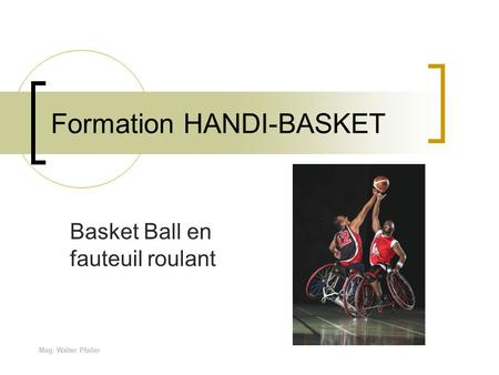 Formation HANDI-BASKET
