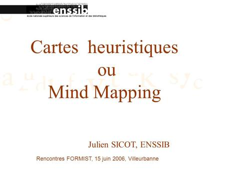 Cartes heuristiques ou Mind Mapping