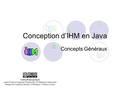 Conception d'IHM en Java