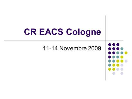 CR EACS Cologne 11-14 Novembre 2009. LBPE9.7/8 - Prevalence of proximal renal tubular dysfunction (PRTD) and associated factors in HIV-infected patients,