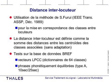 Distance inter-locuteur