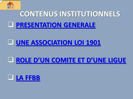 CONTENUS INSTITUTIONNELS