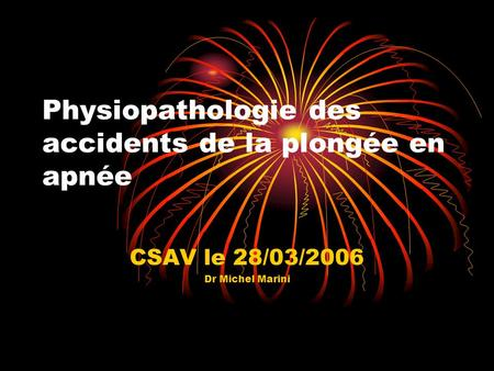 Physiopathologie des accidents de la plongée en apnée