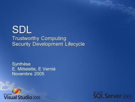 SDL Trustworthy Computing Security Development Lifecycle