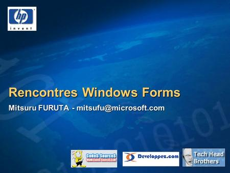 Rencontres Windows Forms