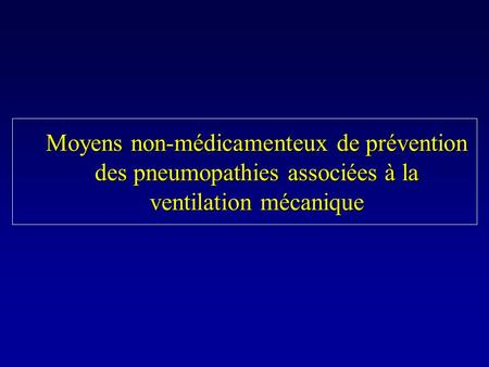 Eviter la ventilation invasive