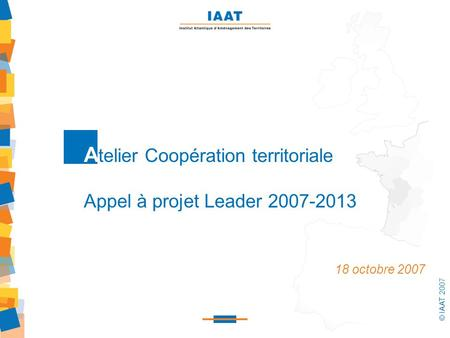 Atelier Coopération territoriale