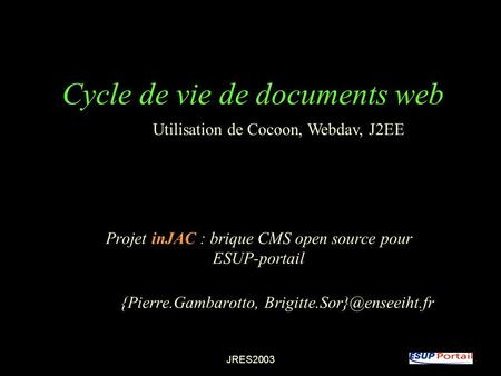 Cycle de vie de documents web