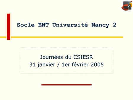 Socle ENT Université Nancy 2