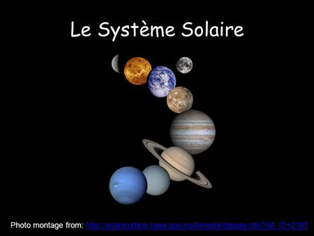 Le Système Solaire From