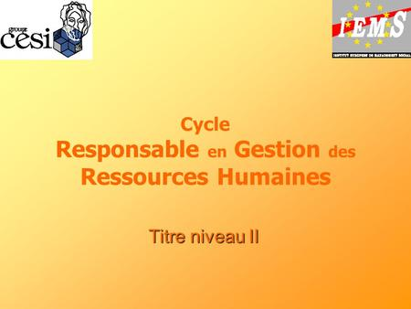 Cycle Responsable en Gestion des Ressources Humaines