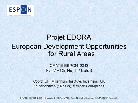 European Development Opportunities for Rural Areas