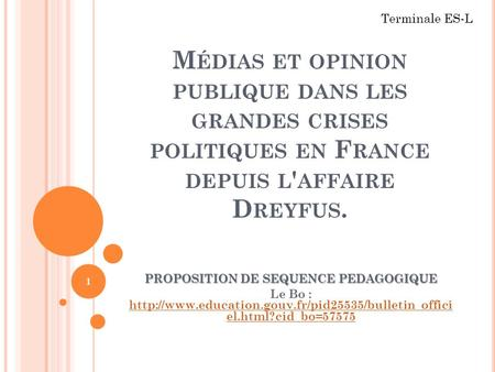 PROPOSITION DE SEQUENCE PEDAGOGIQUE