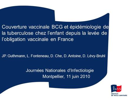Journées Nationales d'Infectiologie