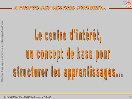 structurer les apprentissages...