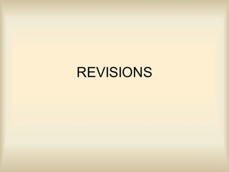 REVISIONS.