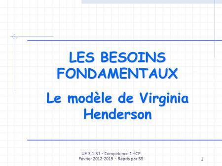 Le Modele Conceptuel De Virginia Henderson Ppt Video Online Telecharger