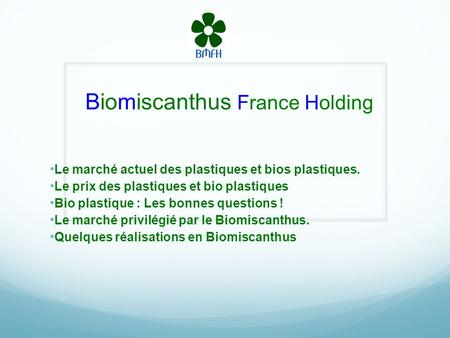 Biomiscanthus France Holding
