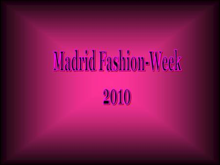 Madrid Fashion-Week 2010.
