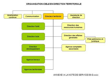 ORGANISATION-CIBLE EN DIRECTION TERRITORIALE