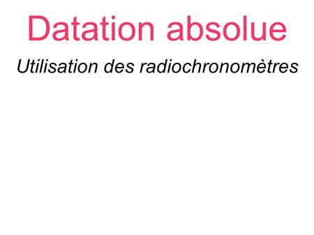 L'impact environnemental de datation radioactive