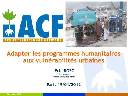 Adapter les programmes humanitaires
